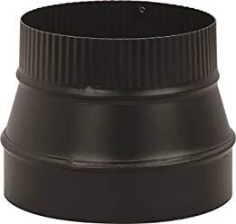 "Gray Metal 24ga Black Stovepipe 6"" to 7"" Increasing Adapter 6x7-612"