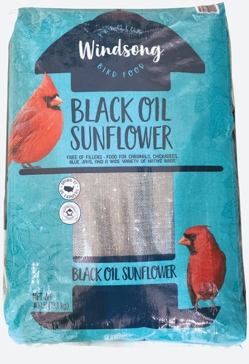 Windsong Black Oil Sunflower Bird Seed 40#