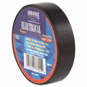 Berry Plastics 3/4in x 60ft Black Electrical Tape