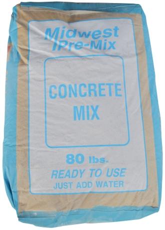 Midwest Block & Brick Pre-Mix Concrete Mix 80lb