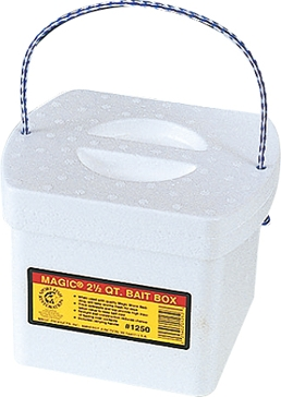Magic 2.5qt Bait Box with Worm Bedding