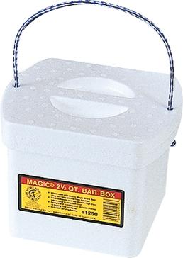 Magic 2.5qt Bait Box with Worm Bedding