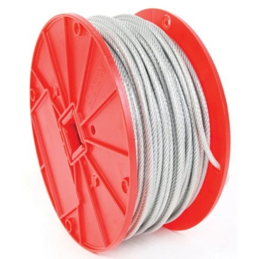 Koch Industries 7x7 Vinyl Coated Galv Cable per Foot-1/8-3/16