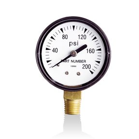 "Wayne 2"" Pressure Gauge - 0-200 PSI - 1/4"" Bottom"