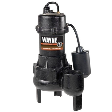 Wayne 1/2HP Cast Iron Sewage Pump with Tether Float Switch RPP50