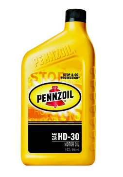 Pennzoil  Heavy Duty 30 Pennzoil Motor Oil