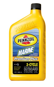 Pennzoil 3871 Marine Premium Plus Outboard 2 Cycle (TC-W3) 1 Quart