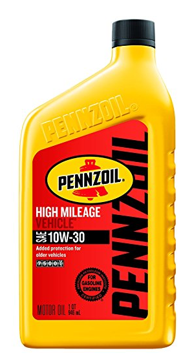 Pennzoil High Mileage Motor Oil 10W-30 – 1 Quart