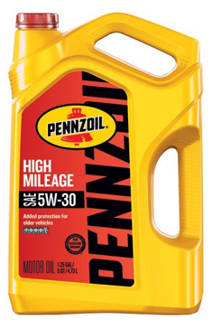 Pennzoil 550045218 5 quart 5W-30 High Mileage Motor Oil