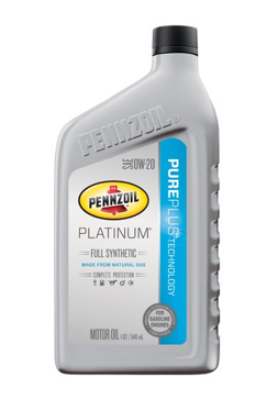 Pennzoil Platinum Full Synthetic 0W-20 Motor Oil - 1 Quart