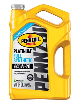 Pennzoil Platinum 5 quart 5W-20 Full Synthetic Motor Oil