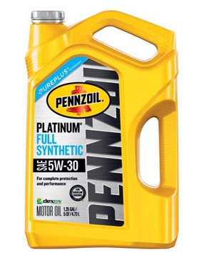 Pennzoil Platinum 5 quart 10W-30 Full Synthetic Motor Oil