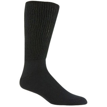 Railroad Sock Mens King Size Therapeutic Socks 2 Pair Black Size 13-16 991K-BK