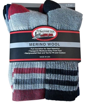 Railroad Merino Wool Socks 6 Pk.