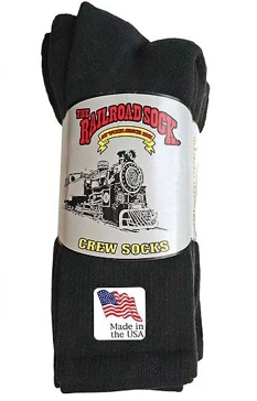 4 Pk. Men's Railroad Crew Socks (Sizes 10-13)