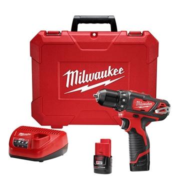 "Milwaukee M12 3/8"" Drill/Driver Kit 2407-22"