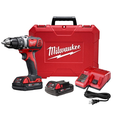 "Milwaukee M18 Compact 1/2"" Drill Driver Kit 2606-22CT"