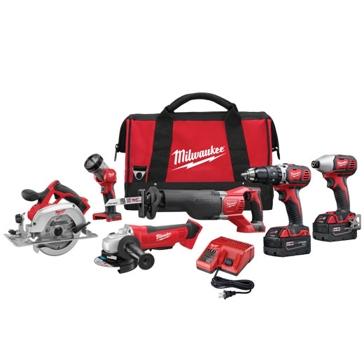 Milwaukee 2696-26 M18 Li-Ion 6 Tool Kit