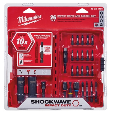 Milwaukee SHOCKWAVE Drive and Fasten Set 26-PC