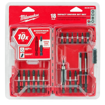 Milwaukee Shockwave Driver Bit Set 18pc