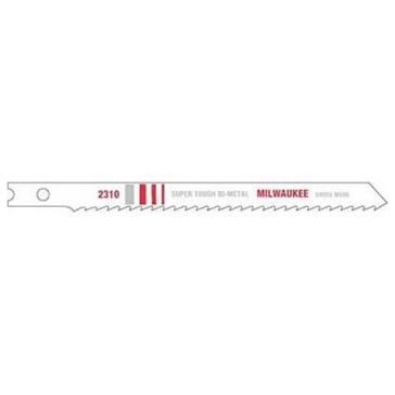 "Milwaukee 4-1/8"" 10 TPI Bi-Metal Jig Saw Blade (5 PK)"