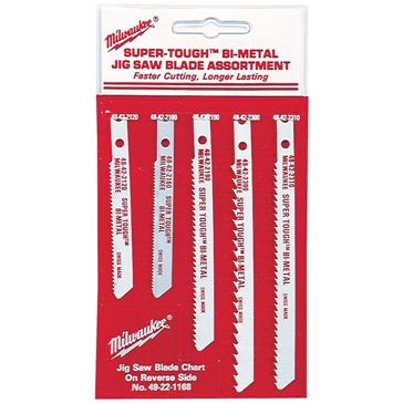 Milwaukee U-Shank Wood and Metal Assortment (5 Pk)