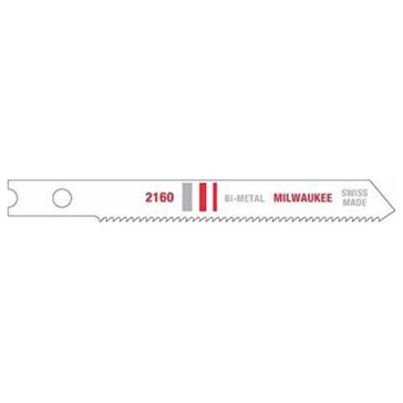 "Milwaukee 2-3/4"" 24 TPI Bi-Metal Jig Saw Blade (5 PK)"