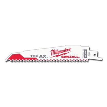 "Milwaukee 6"" 5 TPI The Ax™ Sawzall® Blade (5 Pk)"