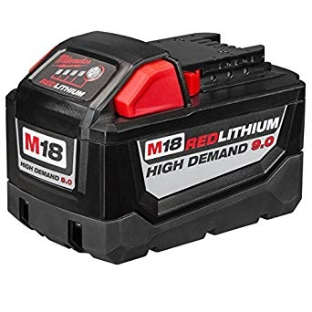 Milwaukee M18 9.0 Amp Hour 18 Volt Lithium-Ion Rechargeable Battery 48-11-1890