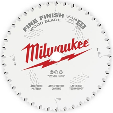 "Milwaukee 7-1/4"" 40T Fine Finish Circular Saw Blade"