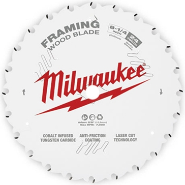 "Milwaukee 8-1/4"" 24T Framing Circular Saw Blade"