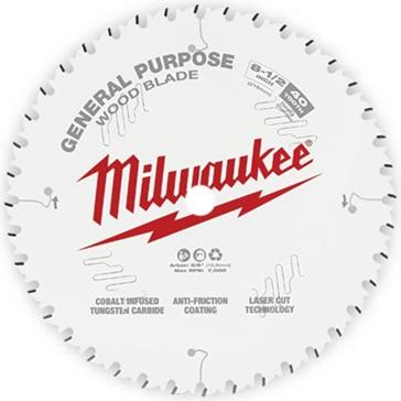 """Milwaukee 8-1/2"""" 40T General Purpose Circular Saw Blade"""