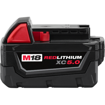 Milwaulkee M18 18-Volt XC Extended Capacity 5.0AH Battery Pack