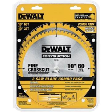 """Dewalt Construction 10"""" Blades: Combo Pack DW3106P5"""