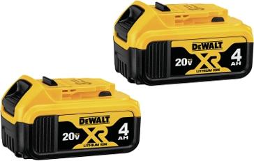 Dewalt 20V MAX Premium XR 4.0AH Li-Ion 2-Pack DCB204-2