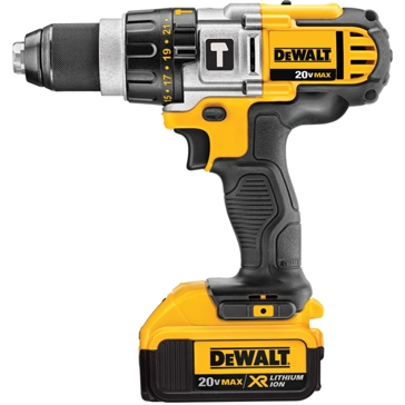 Dewalt 20V MAX Li-Ion Premium 3-Speed Hammerdrill Kit  DCD985M2