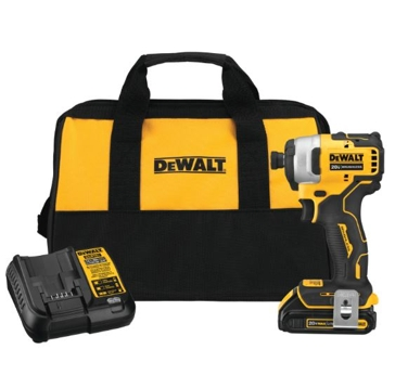 "DeWalt Atomic 20V MAX* Brushless Cordless Compact 1/4"" Impact Driver Kit Single Battery Kit"