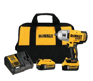 """DeWalt 20V MAX* XR® High Torque 1/2"""" Impact Wrench with Detent Pin Anvil Kit"""