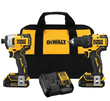 DeWalt 20-Volt MAX Lithium-Ion Brushless Cordless Compact Drill/Impact Combo Kit