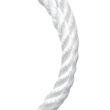Koch Industries White Twisted Nylon Rope per Foot