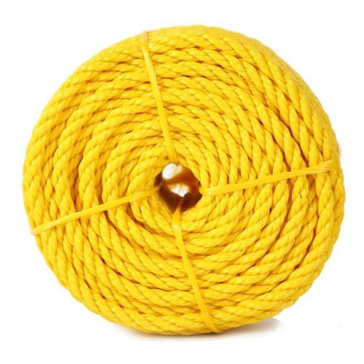 "Koch Industries 1/4"" Yellow Twisted Polypropylene Rope 100ft"