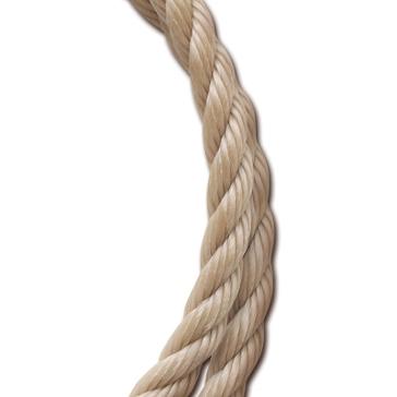 "Koch Industries Twisted Polypropylene Rope per Foot-Tan 5/8"""