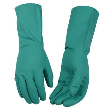 Kinco Green Nitrile Disposable Gloves - Large