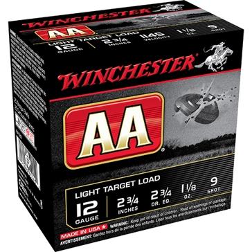 Winchester AA Light Target Load 12ga 9-Shot
