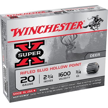 Winchester Super-X Rifled Slug Hollow Point 20ga