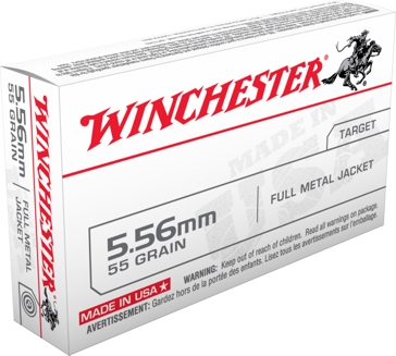 Winchester 5.56 55 Grain FMJ Rifle Cartridges Q3131