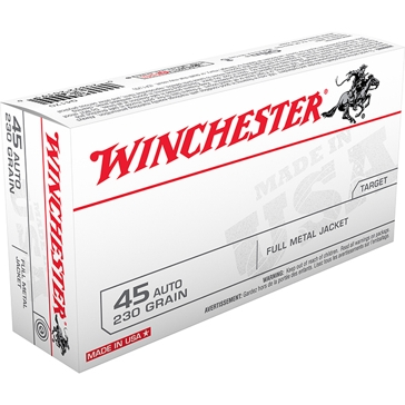 Winchester Target 45 Automatic 230 GR. Full Metal Jacket