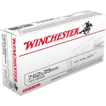Winchester 7.62X39mm Russian 123 GR. Full Metal Jacket