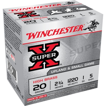 Winchester Super-X High Brass Game Loads 20ga 5-Shot