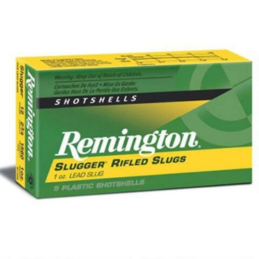 "Remington Slugger Rifled Slug Loads 12ga 2-3/4"" 5RD"